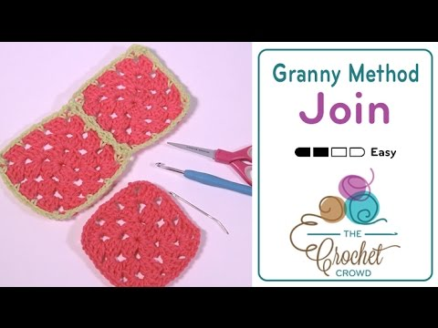 How to Join Granny Squares - Flat Braid Continuous Join