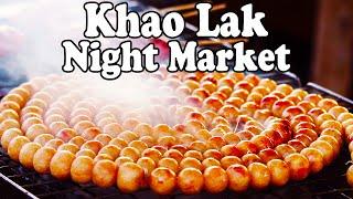 Khao Lak Night Market Tour. Thai Street Food & Shopping at a Bang Niang Market in Khao Lak Thailand