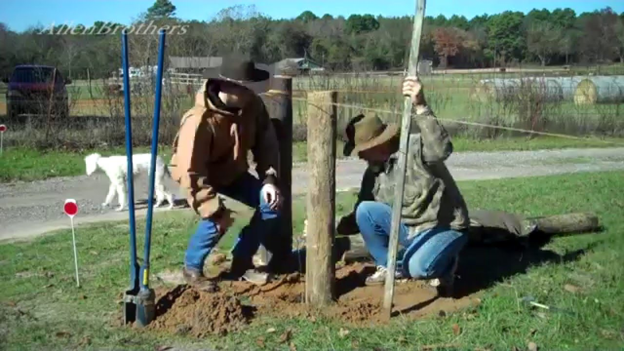How to Build Electric High Tensile Fence 101 ~ Setting Brace Posts ...