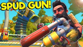 Spycakes & I Finally Bought the Spud Gun! - Scrap Mechanic Multiplayer Survival