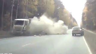 Самые жёсткие аварии грузовиков 2016. Итоговая подборка дтп за год