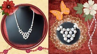 DIY Manualidades bisuteria - collares - collares de perlas