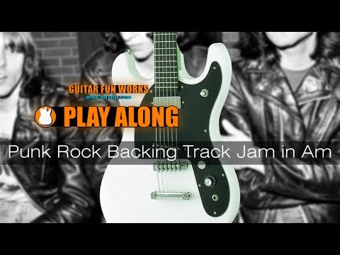Punk Rock Backing Track Jam in Am