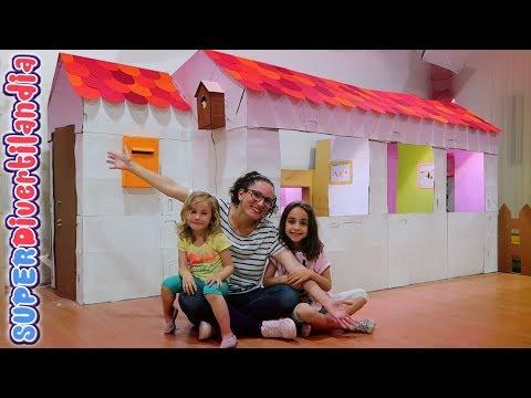 House Tour de Mi Casita de Cartón 🏠 #5 Casa de juguete en SUPERDivertilandia!