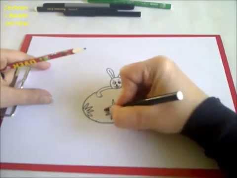 Zeichnen Lernen Fur Anfanger Hase Mit Osterei Zeichnen Youtube