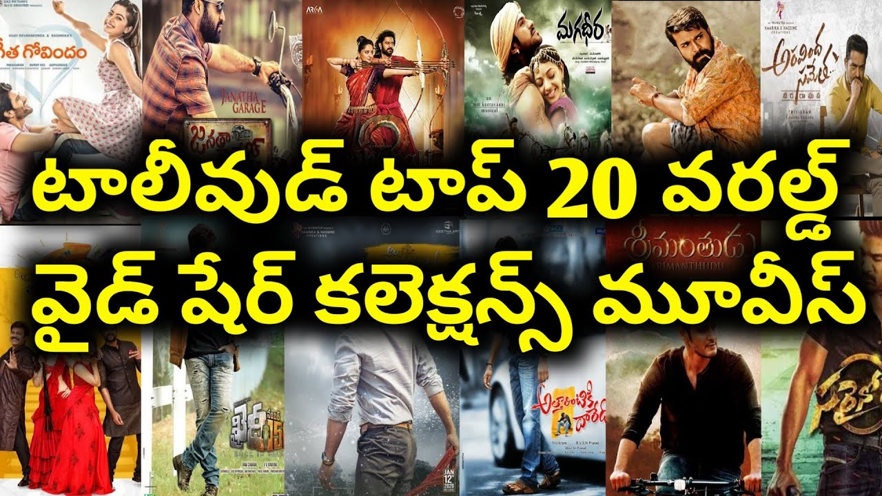 Tollywood Total worldwide Share Top 20 Movies upto Ala Vaikunthapurramuloo