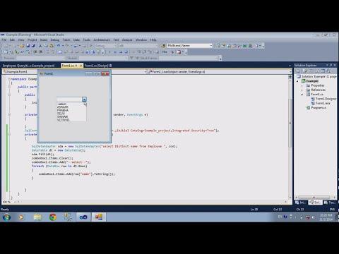 C# comboBox Value in .net