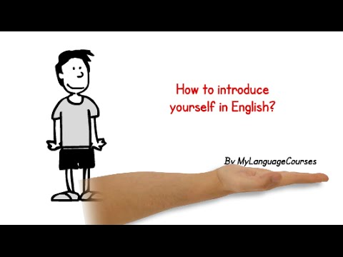 How to introduce yourself in English - part 1 - job interview, IELTS  Speaking, business meeting