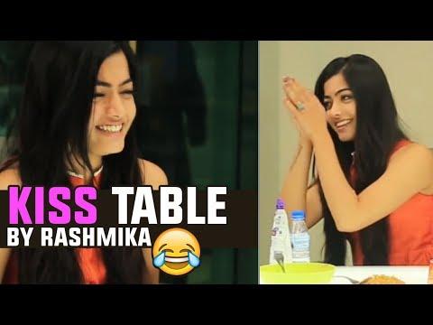 KISS Table By Rashmika Mandanna   Hilarious   Chalo Movie Promotions   TFPC