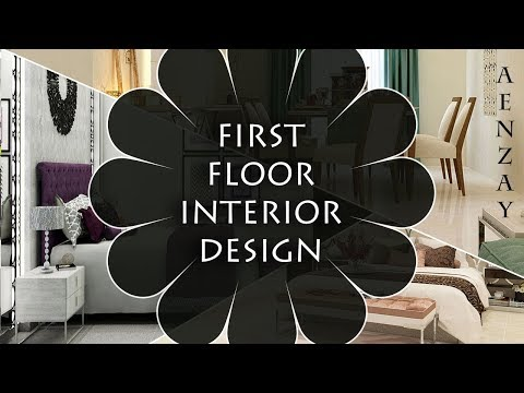 First Floor Home Interior Design Plan | Master Bedrooms | TV Lounge and Dining | Aenzay Interiors