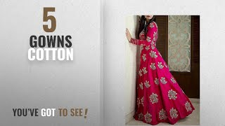 Top 10 Gowns Cotton [2018]: hirva collections Pink Cotton Sillk Gown for Woman,