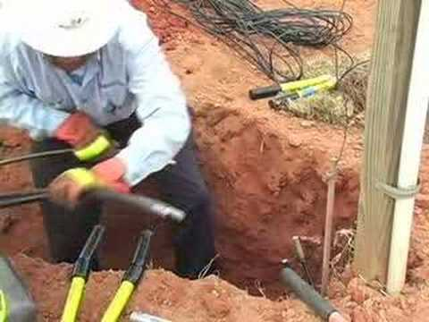 Installing Underground Wiring-Updated - YouTube
