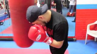 WORLD TITLE CONTENDER DIEGO MAGDELENO WORKS THE HEAVYBAG AHEAD OF CLASH WITH FLANAGAN / WW3