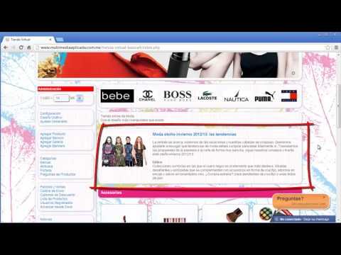Ajustes Generales Tienda Virtual - Multimedia Aplicada