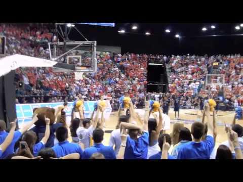 UCLA and Arizona 2014 Pac 12 Basketball Championship UCLA Student Section Highlights
