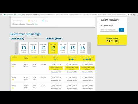 A Step by Step How to Book a Flight with Cebu Pacific Airlines