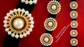 How to Make Bridal Hair Accessories At Home | DIY hair accessories | Pearl Jewelry | uppunutihome