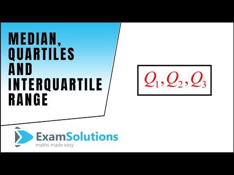 Median Quartiles And Interquartile Range Examsolutions