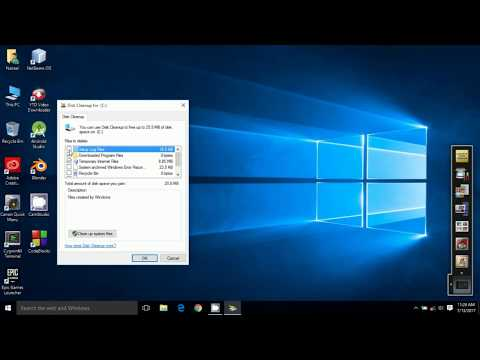 How to clean up disks in windows