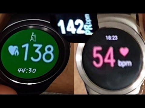 LG Urbane vs Samsung Gear S2 - Heart Rate Sensor