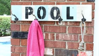 How To Create A Pool House Towel Hanger - DIY Home Tutorial - Guidecentral