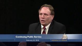 Senator Jim Abeler Returns to Public Service