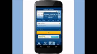 How to plan a journey on the National Rail Enquiries Android app video