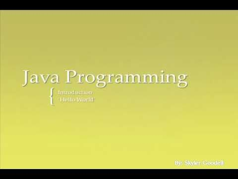 Developing General Java Applications
