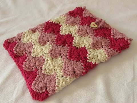 How To Crochet A Catherine Wheel IPad / Phone / Laptop / Tablet Cover