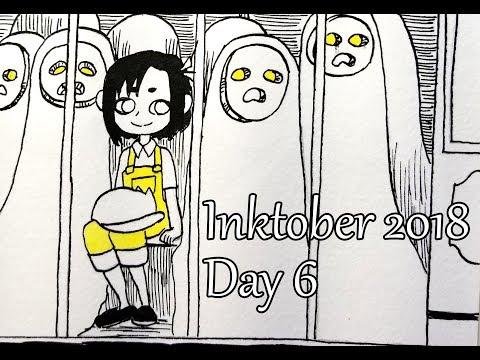 Inktober. Day 6. The Interesting Train.