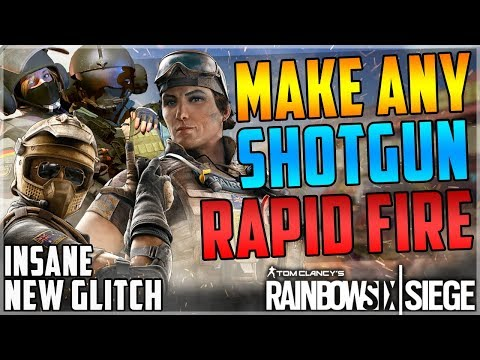 (OP) MAKE ANY PUMP SHOTGUN FULLY AUTOMATIC GLITCH - NEW RAPID FIRE SHOTGUN GLITCH -Rainbow Six Siege