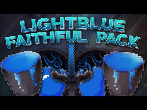 Minecraft PvP Texture Pack: LIGHTBLUE FAITHFUL EDIT! (1.7-1.8)