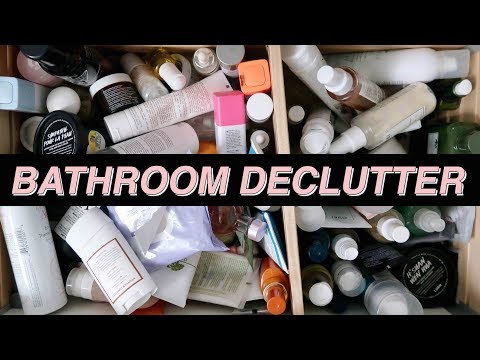 DECLUTTERING MY SKINCARE AND HAIRCARE COLLECTION! | Jamie Paige