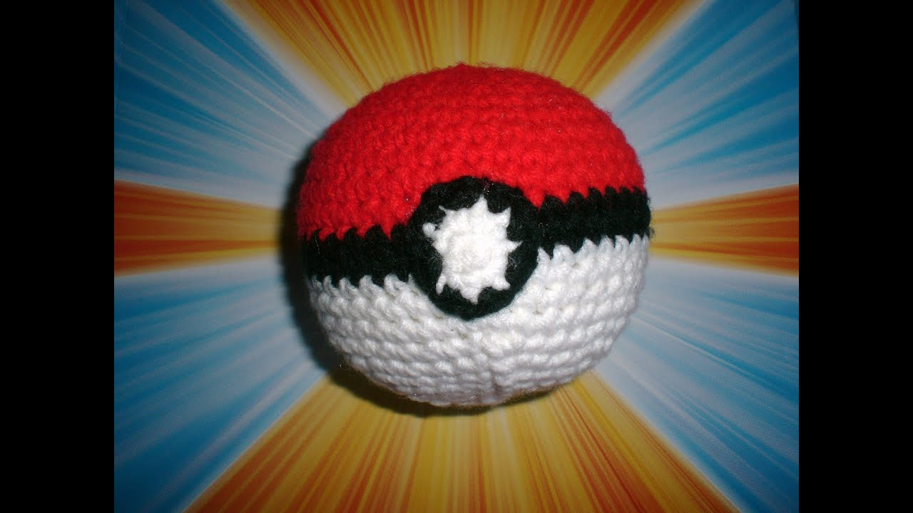 Step By Step How To Crochet A Pokemon Pokeball Plushie Youtube