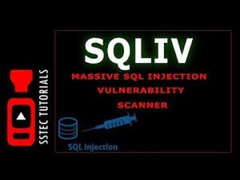 SQLIV - SQL Scanner Kali Linux
