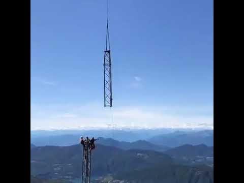 Come si monta una teleferica in alta quota