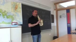 Gregorio Galán. Glisando en el saxofón.