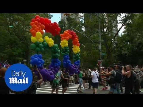 NYC Gay Pride Parade Celebrates Stonewall Riot 50 Year Anniversary