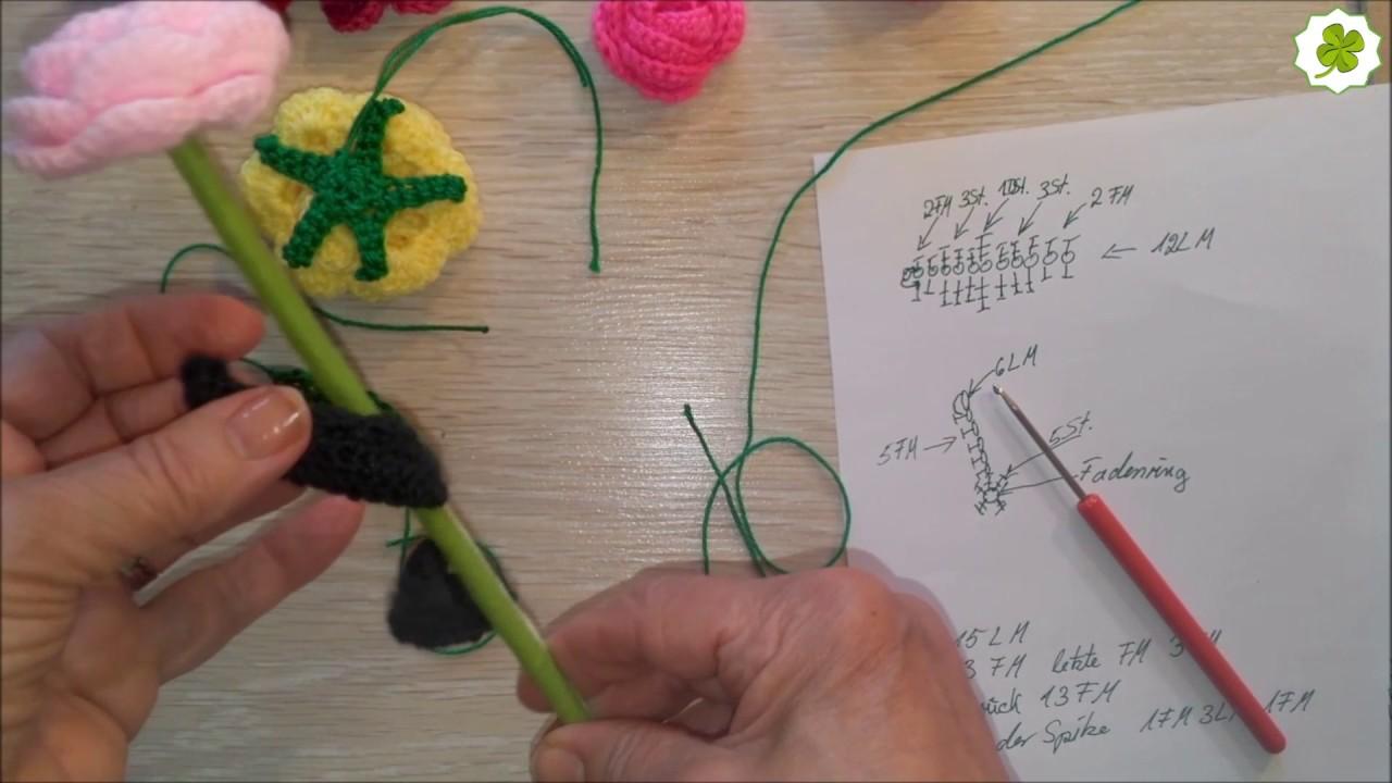Blumenstiele Kleines Und Langes Blatt Häkeln Eigen Kreationen Diy