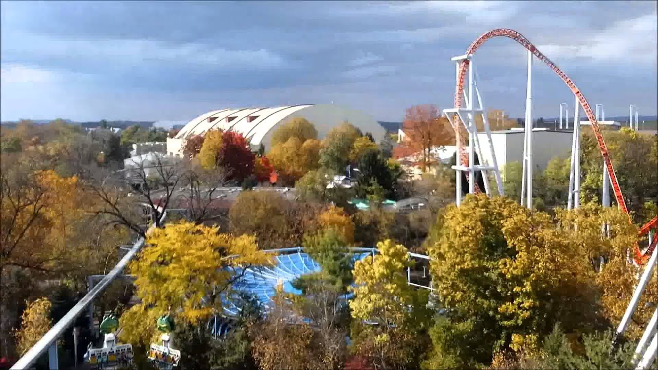 Hershey Park: Flying Falcon On Ride POV 1080p - YouTube