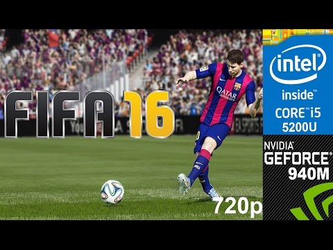 Fifa 16 Demo on HP Pavilion 15-ab032TX, Max Setting, 720p, Core i5 5200u + Nvidia Geforce 940m