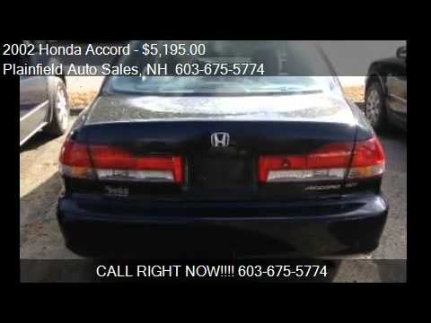 2002 honda accord special edition sedan for sale in plainf youtube. Black Bedroom Furniture Sets. Home Design Ideas