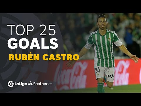 TOP 25 GOALS Rubén Castro En LaLiga Santander