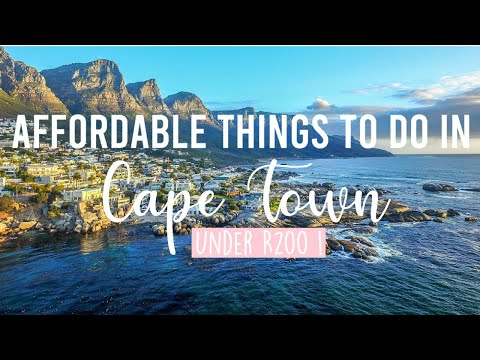 9 Affordable Things To Do In CAPE TOWN, South Africa On A BUDGET! (UNDER R200) | Natalie Wera