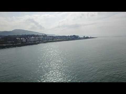 Llanfairfechan beach dji mavic pro drone