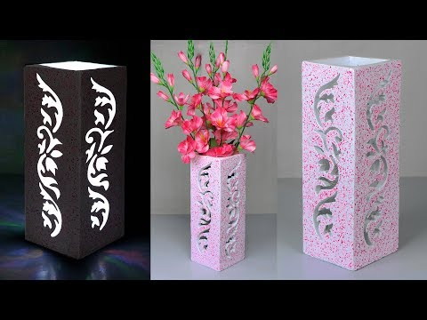 Flower vase and Night lamp making // Stylist flower vase making at home