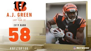 #58: A.J. Green (WR, Bengals) | Top 100 Players of 2019 | NFL