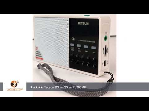 Tecsun D3 Rechargeable FM Radio with ETM, MP3 Player with Built-in Micro SD Card Slot & Portable