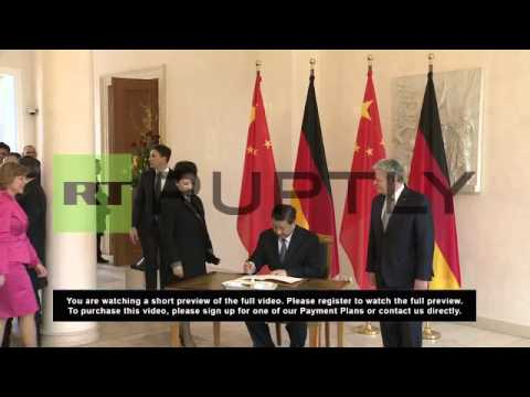 Germany: President Xi Jinping meets German counterpart in Berlin