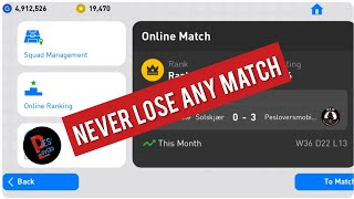 Trick to Never Lose Any Online Match | PES 19 Mobile